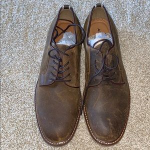 Aldo mens brown suede lace ups